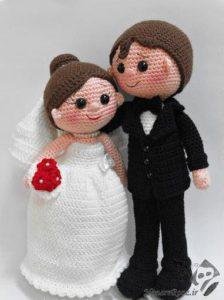 عروس داماد قلاب بافی آموزش بافت عروسک عروس و داماد - هنر روز